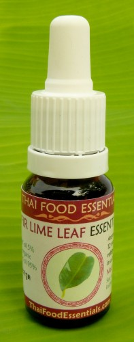 Kaffir lime oil bottle