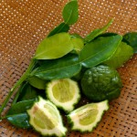 Kaffir lime leaves and fruit